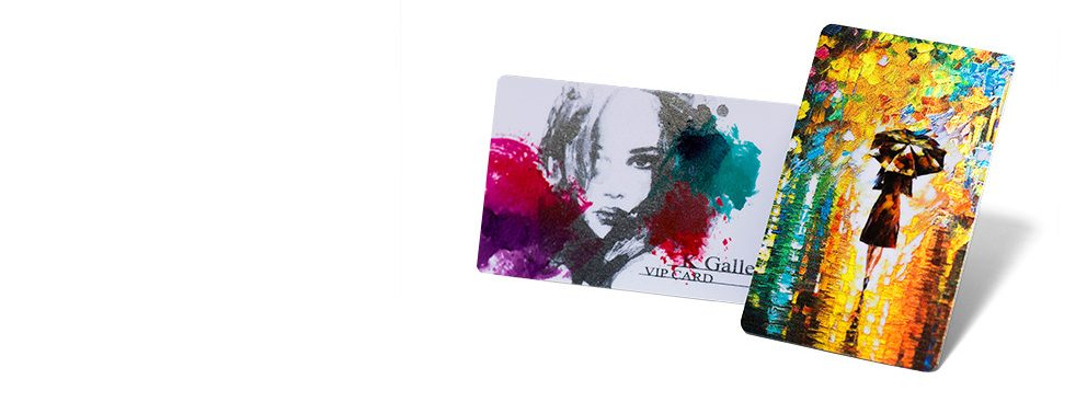 Digital Metal foil plastic cards takes foil hot stamp to the next level.